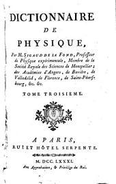 Dictionnaire de physique: Volume3