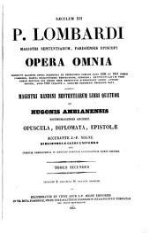 Patrologiae latina cursus completus ... series secunda: Volume 192