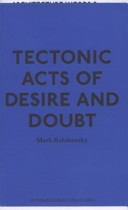 Tectonic Acts of Desire and Doubt PDF