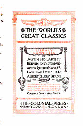 The World's Great Classics: A short history of the English people, by J.R. Green. 3 v.; History of civilization in Europe, by F.P.G. Guizot