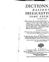 Dictionnaire raisonné des eaux et forêts: Volume1
