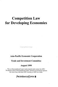 Competition Law for Developing Economies PDF