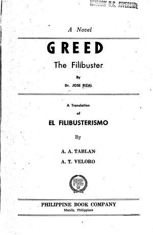 Greed  the Filibuster