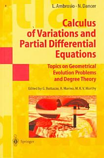 Calculus of Variations and Partial Differential Equations Book
