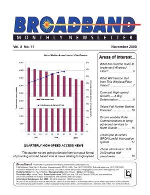 Broadband Monthly Newsletter November 2009 PDF