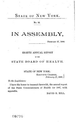Annual report of the State Department of Health of New York  1888 PDF