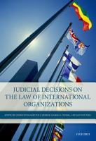 Judicial Decisions on the Law of International Organizations PDF