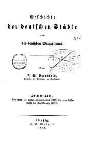 Geschichte der deutschen Städte und des deutschen Bürgerthums: Band 2