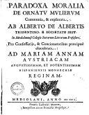 Paradoxa Moralia de Ornatu Mulierum Communia, & Explorata0