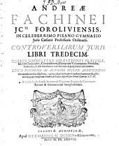 Controversiarum juris libri tredecim ...