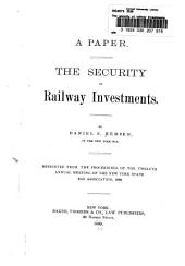 The Security of Railway Investments