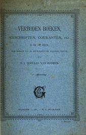 Verboden boeken, geschriften, couranten, enz. in de 18e eeuw: Eene bijdrage tot de geschiedenis der Haagsche censuur