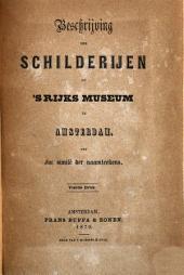 Beschrijving der schilderijen op 's Rijks Museum te Amsterdam: met fac similé der naamteekens, Volume 1