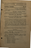 Public Documents of the State of Maine  Being the Reports of the Various Public Officers and Departments PDF