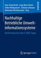 Nachhaltige Betriebliche Umweltinformationssysteme PDF
