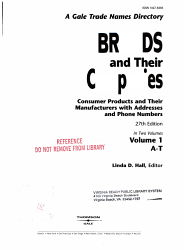 Brands And Their Companies Book PDF