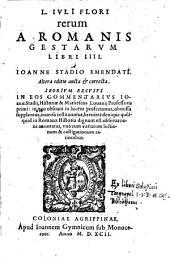 Rerum a Romanis gestarum libri IIII. a Joanne Stadio emendati. II. ed. auct. et corr. (etc.)