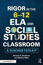 Rigor in the 6   12 ELA and Social Studies Classroom PDF