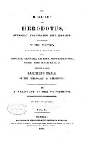 The History of Herodotus PDF