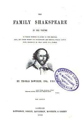 The Family Shakspeare in One Volume PDF