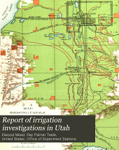 Report of Irrigation Investigations in Utah