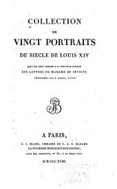 Collection de vingt portraits du siecle de Louis XIV.