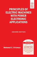 PRINCIPLES OF ELECTRIC MACHINES WITH POWER ELECTRONIC APPLICATIONS  2ND ED PDF