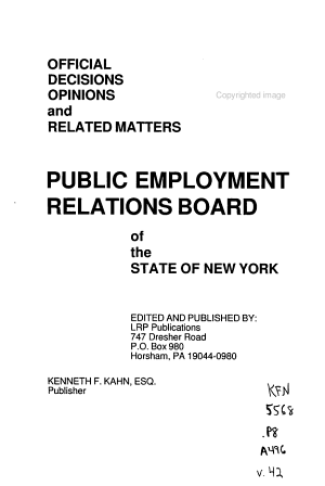 Official Decisions  Opinions and Related Matters