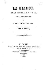 Le giaour: traduction en vers, avec le texte en regard, et poésies diverses