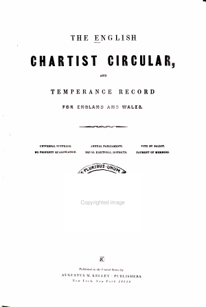 The English Chartist Circular and Temperance Record for England and Wales