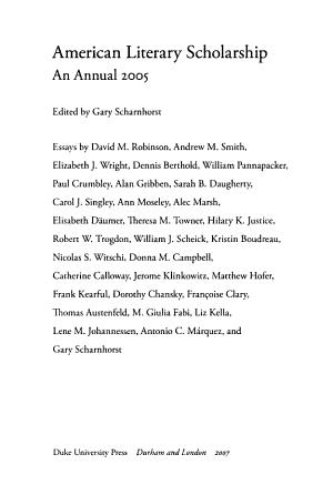 American Literary Scholarship