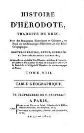 Table géographique