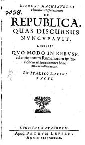 Disputationum de Republica ... Libri 3