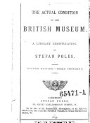 The actual condition of the British museum, a literary expostulation