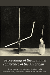 Proceedings of the ... Annual Conference of the American Association of Medical Milk Commissions: Volumes 6-8