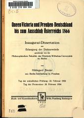 Queen Victoria und Preussen Deutschland bis zum Ausschluss   sterreichs 1866 PDF