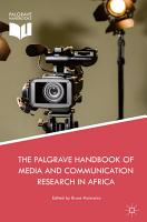 The Palgrave Handbook of Media and Communication Research in Africa PDF