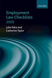 Employment Law Checklists 2009: Edition 4