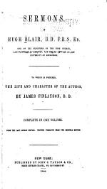 Sermons of Hugh Blair