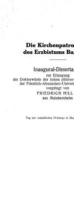 Die Kirchenpatrozinien des Erzbistums Bamberg PDF