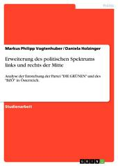 """Erweiterung des politischen Spektrums links und rechts der Mitte: Analyse der Entstehung der Partei """"DIE GRÜNEN"""" und des """"BZÖ"""" in Österreich."""