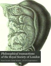 Philosophical Transactions of the Royal Society of London: Volume 111