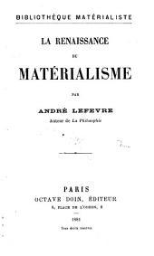 La renaissance du matérialisme