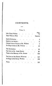 The lives of Donne, Wotton, Hooker, Hebert, and Sanderson: Volume 1
