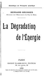 La dégradation de l'énergie