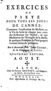 Exercices De Piete Pour Tous Les Jours De L'Annee: Volume8
