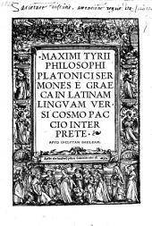 Sermones E Graeca In Latinam Lingvam Versi Cosmo Paccio Interprete