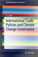 International Trade Policies and Climate Change Governance PDF