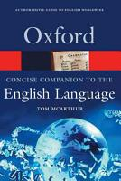 Concise Oxford Companion to the English Language PDF