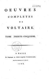 Oeuvres complètes de Voltaire: Volume37